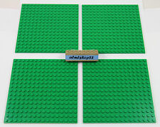 """LEGO - Lot of 16x16 Dots (5""""x5"""") Green Baseplate Thick Base Plate Flat City Town"""