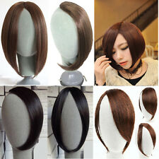 USA New Clip On Clip In Front Bang Fringe Hair Extension black brown Global Sale