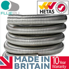 Flue Liner 5 inch or 6 inch Stoves Woodburner Chimney Liner Stainless Steel 316