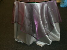 """54"""" Sheer Tissue Organza Decorative Table Topper Tablecloth NWT 5 Colors"""