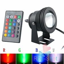 10W 12V RGB LED Spot Underwater Pool Pond Waterproof Light With Remote Control