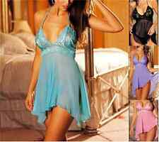 Purple/Pink/Black/Pink Sexy  Lingerie Plus Size Gown Dress Babydoll  O84