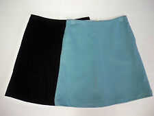 Ladies Boden Black / Duck Egg Blue Wool A-Line Knee Skirt- 8-20-new with defects