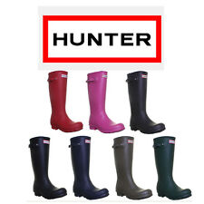 Hunter Boots Original Kids Rubber Wellies Wellys Size Uk 1 - 5