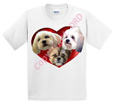 Lhasa Apso Kids T shirt Childrens Tee Shirt, Dogs in a Heart, UK Gift Ages3 -13