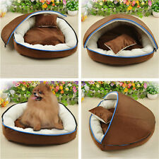 Soft Dog Cat Bed Half-fox Pet House Kennel Doggy Warm Lovely Cushion Basket Set