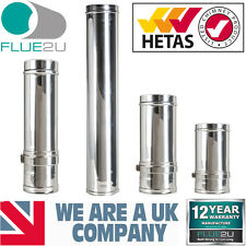 Stainless Steel Twin Wall Flue 6 TwinWall Flue System Woodburner Stoves 6 inch