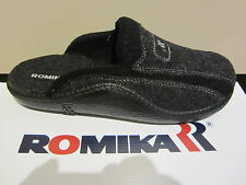 Romika Men's Clog with Wool felt, black, Footboard NEW!!