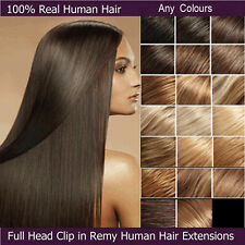 Premium Grade AAA Clip In Remy Human Hair Extensions Full Head US Stock DIY E641
