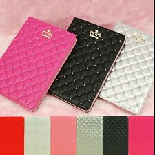 New Luxury Crown Leather Case Stand Cover For iPad 2/3/4 5 6 air 2 iPad Mini