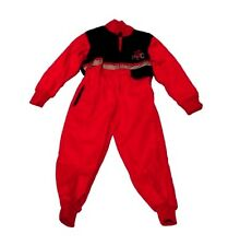 New Kids Boiler Suit - Red / Black Children's Tractor Boiler Suit Kids Overalls