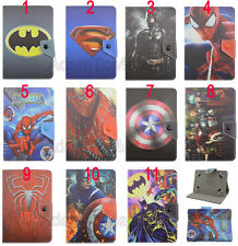 Kids Cute Cartoon Super Hero Marvel Leather Stand Case Cover For Samsung Tablets