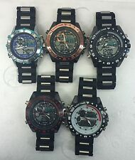 Job Lot of  New Analogue and Digital Alarm, Chrono Men's Wrist Watches (5-50)