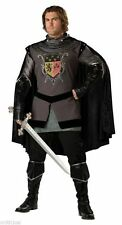 ADULT MENS DARK KNIGHT MEDIEVAL ARMOUR COSTUME Halloween Tunic Cape Theme Party
