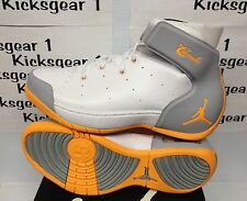 Nike Air Jordan Melo 1.5 White/Mango-Grey Mens Basketball Shoes 631310-135