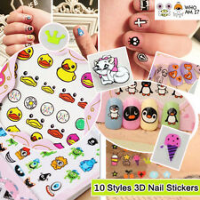 3D Mixed Decal Stickers Nail Art Acrylic Manicure Tips Deco Design Cute DIY Sale
