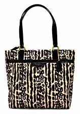$268 NWT Coach 31901 Ocelot Leopard Print Tote Handbag Authentic