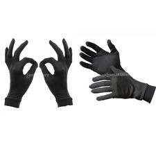 100% Pure Silk Liner Gloves Thermal Ski Inner Under Gloves - BLACK -Various Size