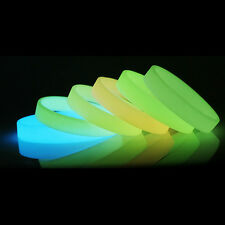 Glow in the Dark Mixed Color Luminous Elastic Rubber Wristband Bracelet