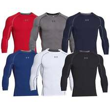 Under Armour UA Mens Compression Long Sleeve HeatGear Shirt Sonic Shirt 1257471