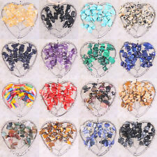 Heart Tree of life-Agate Coral Amethyst Lapis wire wrapped stones Pendant 1Pcs