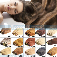 100g Virgin Straight Weft Remy Human Hair Straight Weaving Weft Extensions