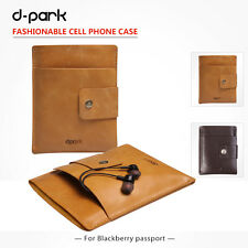 """Soft Genuine Leather Pouch Phone Case Cover For Blackberry Passport Q30 4.5"""""""