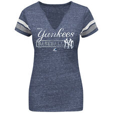 New York Yankees Outfield Domination V-Neck Womens T-Shirt