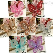 50 Nylon Stocking Butterfly Wedding Decorations 4.5cm