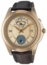 Citizen Eco-Drive Moon Phase Sapphire Japan Men's Watch BU0002-05P BU0003-02P