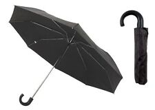 "Mens Drizzles Black 21"" Manual Folding Umbrella with Sleeve UU94"