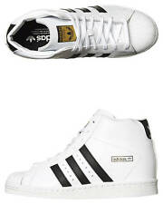 New Adidas Originals Women's Superstar Up Hi Shoe Leather Women's Shoes White