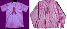PINK RIBBON Tie Dye T-shirt Benefits American Breast Cancer Foundation S to 2X