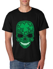 Saint Patrick Day Men's Tee Shirt Irish Skull Irish Shamrock Shirt Irish Beer