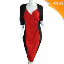 Avella Plus Size Dress for Women (Red & Black)