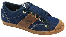 Dunlop Originals Green Flash Men's 1987 Panel Blue And Brown Canvas Shoes New