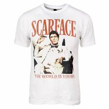 Mens Official Scarface The World Is Yours Al Pacino T Shirt White Tony Montana