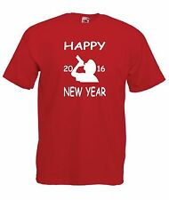 HAPPY NEW YEAR 2016 3 christmas party birthday gift ideas boys girls T SHIRT