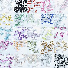 200 Round 4mm Flat Back Gems Acrylic Rhinestones For Scrapbooking Card Making