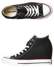 New Converse Women's Chuck Taylor All Star Lux Mid Wedge Women's Shoes Black