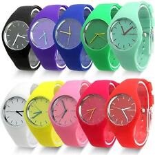 Soft Jelly Silicone Band Dial Quartz Analog Cute Sports Wrist Watch FashionColor