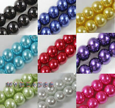 Wholesale Lots Glass Pearl Round Spacer Loose Beads 4mm/6mm/8mm