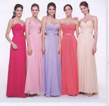COLORS COCKTAIL PROM BRIDESMAIDS HOMECOMING FORMAL LONG DRESS BALL GOWN 4 -22