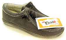 Hey Dude Wally Men's Brown Canvas Slip On Wallaby Deck Shoes
