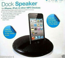VIVITAR DOCK SPEAKER,iPHONE,iPOD,MP3 PORTABLE DESKTOP SPEAKER SYSTEM,BLACK,NEW
