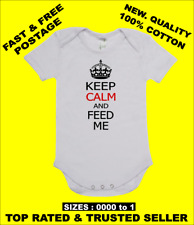 Baby onepiece romper onesie KEEP CALM AND FEED ME on quality 100% cotton