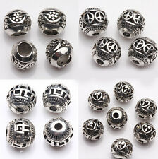 Tibet Silver Various Pattern Hollow Out Spacer Beads Jewelery Making 8mm