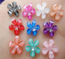 NEW DIY 50pcs 10mm resin flowers flatback Scrapbooking for phone/wedding, Crafts