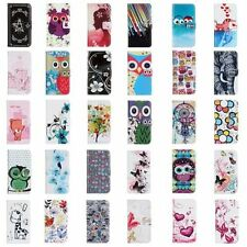 For HTC Cartoon Flower PU Leather Stand Flip Case Wallet Cover Protector Skin