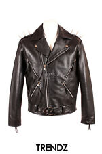 Men's GHOST RIDER SPIKE Cruiser Biker Style Motorcycle Cowhide Leather Jacket